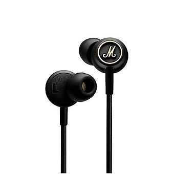 Marshall mode earphones with microphone cable 1mt jack 3.5 mm color black/gold