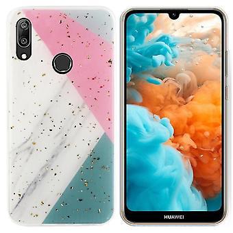 Back Cover Mármol Glitter para Huawei Y6 2019 Gris