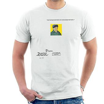 A.P.O.H Vincent van Gogh One Must Work And Dare Quote Men's T-Shirt