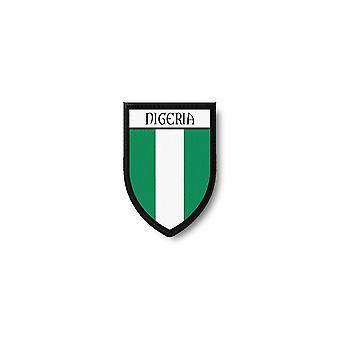 Patch Ecusson Termocollant Bord Brode Drapeau Imprime Nigeria Nigerian