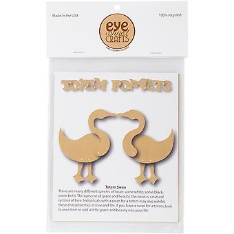 EyeConnect Chipboard Totem Poppet-Swans, 4.5