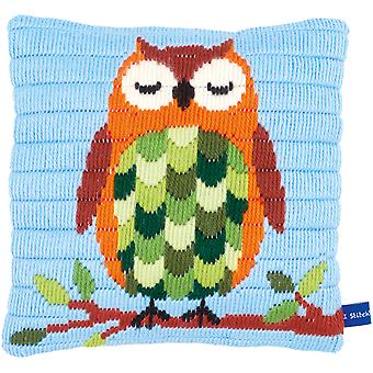 Sleeping Owl Cushion Longstitch Kit-10
