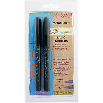Callicreative Markers 2 Pkg Turquoise Mm6631