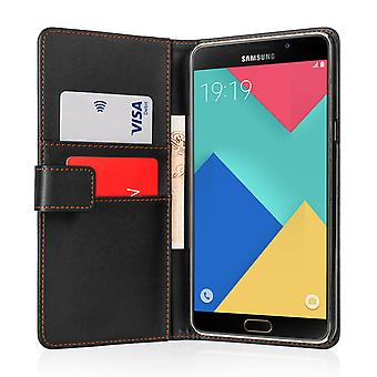 Yousave Accessories Samsung Galaxy A9 LeatherEffect Stand Wallet Case Black