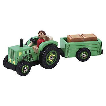 Dimasa Tractor Wood With Trailer (Kids , Toys , Vehicles , Mini Cars)
