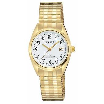 Pulsar Womens Gold Tone in acciaio inox quadrante bianco PH7444X1 Watch