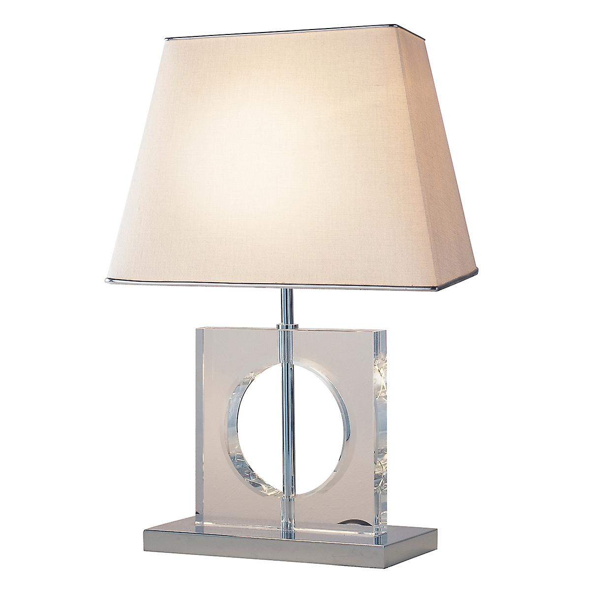 Dar ECO4050 Eco Contemporary Table Lamp With Quartz Glass And Shade