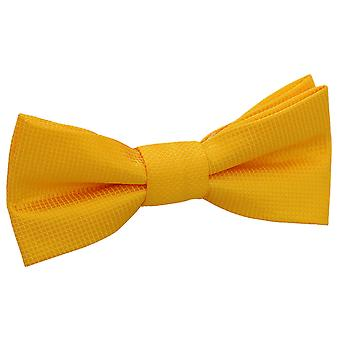 Sunflower Gold Solid Check Pre-Tied Bow Tie for Boys