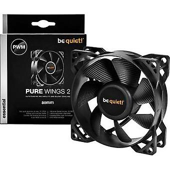 PC fan BeQuiet Pure Wings 2 80 mm PWM Black (W x H x D) 80 x 80