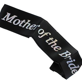 Hen Night �Mother of the Bride� Black Sash Diamante Stone Hen Party Accessory