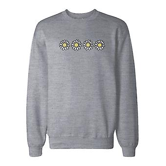 Flowers Graphic Print Sweatshirt Back To School Unisex Sweat Shirt