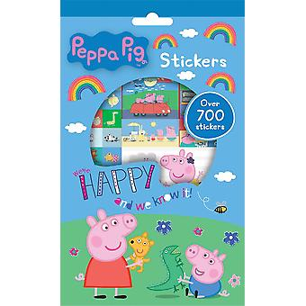 Peppa Pig Set of 700 Reusable Stickers 9 Sheets Activity Fun Play George Pig