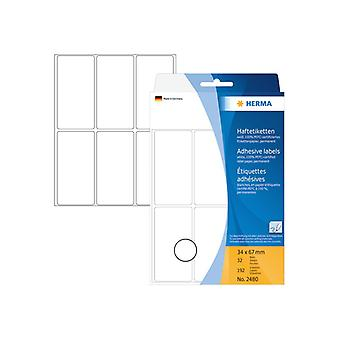 Multi-purpose labels Herma 34x67mm white 192 pcs.