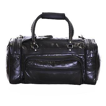Bolsa de viaje de cuero de Slimbridge Blumberg, negro