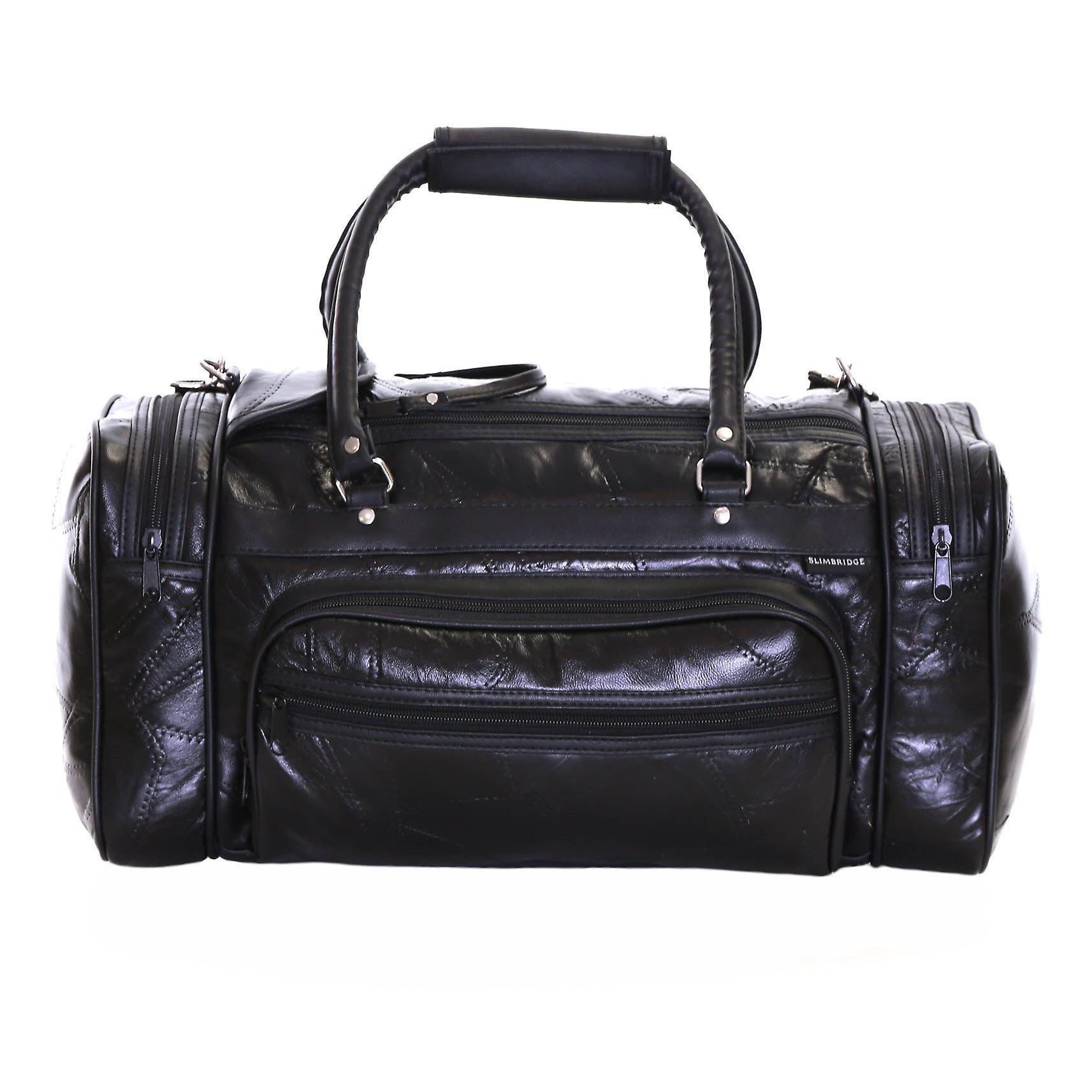 Slimbridge Blumberg Leather Travel Bag, Black