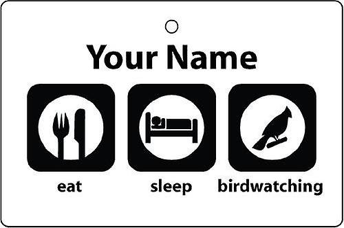 Personalizzato mangiare sonno Birdwatching Car Air Freshener