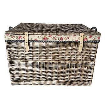 Large Antique Wash Storage Wicker Basket