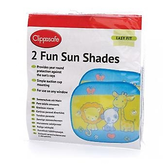 Clippasafe Funny sun shields 2 Units White-Black (Babies and Children , Walk)