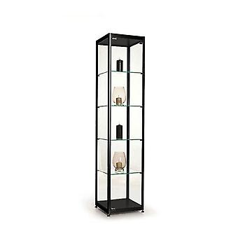 Black Glass Display Cabinet - 400mm
