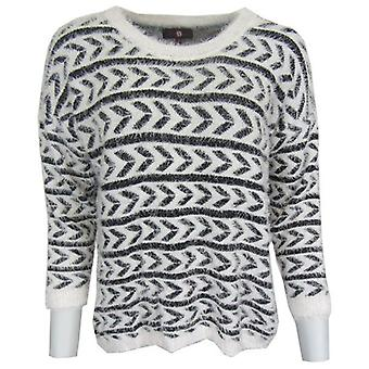 Aztec Fluffy strikkede Jumper-ONE SIZE
