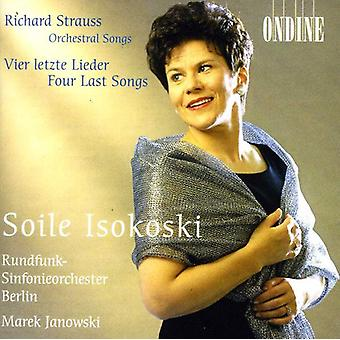 R. Strauss - Richard Strauss: Orchestral Songs; Vier Letzte Lieder [CD] USA import