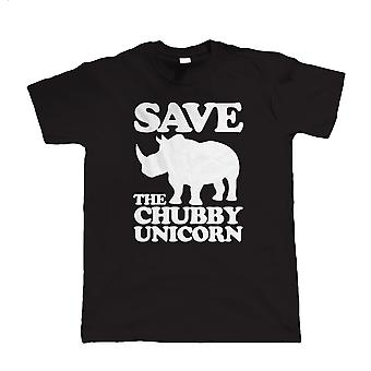 Save The Chubby Unicorn, Mens Funny T-Shirt