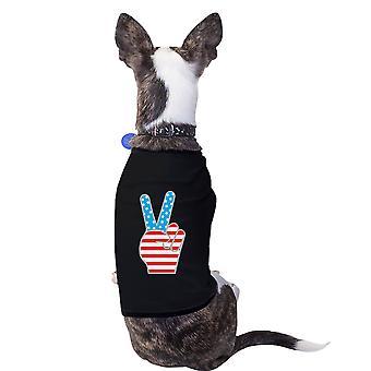 Amerikansk flagg kjæledyr skjorte svart 4 juli liten hund eiere gaver