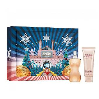 Jean Paul Gaultier Jean Paul Gaultier Classique Gift Set For Her - 50ml Eau De Toilette Spray / 75ml Perfumed Body Lotion