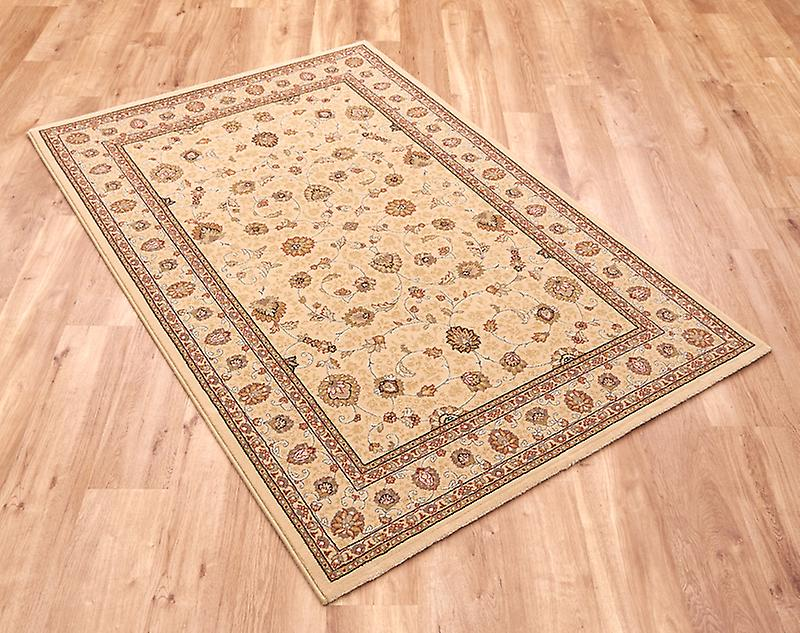 Noble Art 6529-190 Ivory with gold and beige design and viscose accents Rectangle Rugs Traditional Rugs