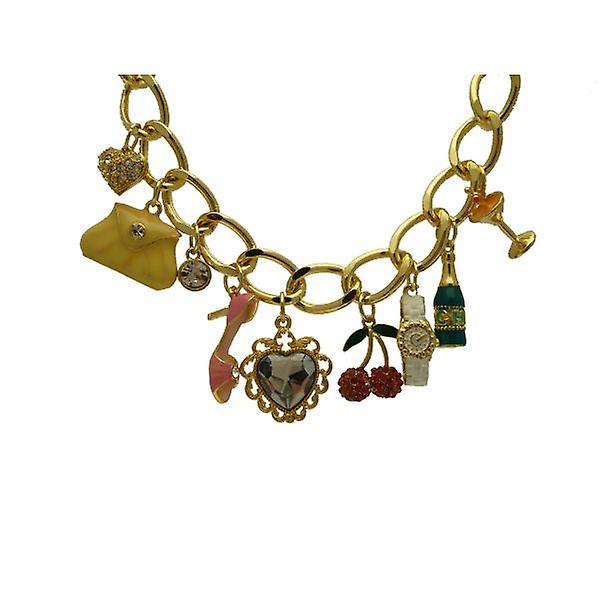 W.A.T Gold Style Handbag Shaped Charm Bracelet