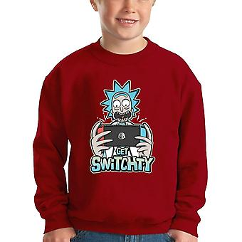 Nintendo Switch Get Switchy Rick And Morty Kid's Sweatshirt