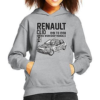 Haynes Besitzer Werkstatt Handbuch Renault Clio Schwarz Kinder Sweatshirt mit Kapuze