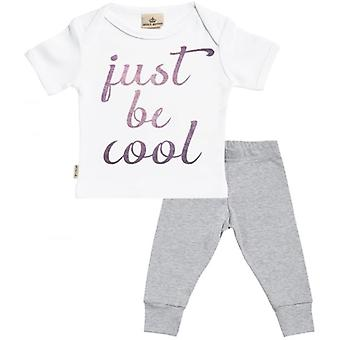 Spoilt Rotten Just Be Cool Baby T-Shirt & Baby Jersey Trousers Outfit Set
