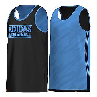 ADIDAS reversible GFX basketball singlet [black/blue]