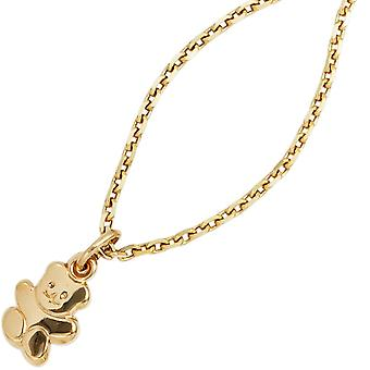 Trailers children children's jewellery pendant Teddy 333 gold yellow gold