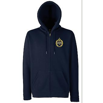 The Queens Bays Embroidered Logo - Official British Army Zipped Hoodie Jacket