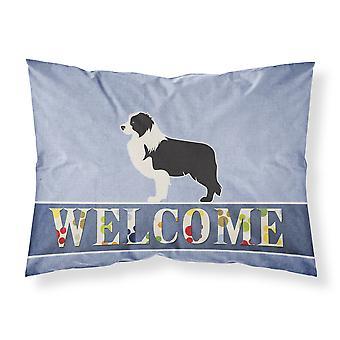 Funda de almohada estándar de negro Border Collie tela agradable