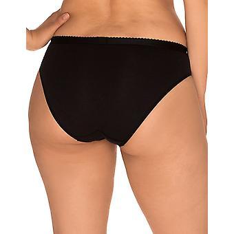Sans Complexe 604438 Women's Coton d'Arum Black Knickers Panty Full Brief