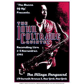 John Coltrane Quintet Village Vanguard 1961 Poster Print (17 x 24)