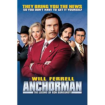 Anchorman Group Poster Poster Print