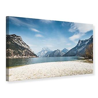 Der idyllische Bergsee-Leinwand