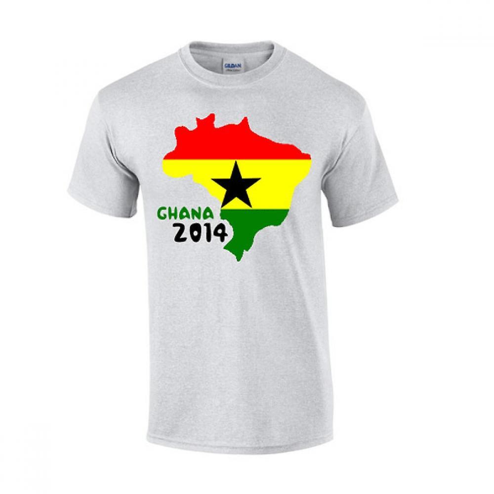 Ghana 2014 Pays Drapeau T-shirt (gris)
