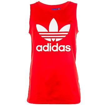 Womens adidas Originals Trefoil Tank Top In Core Red