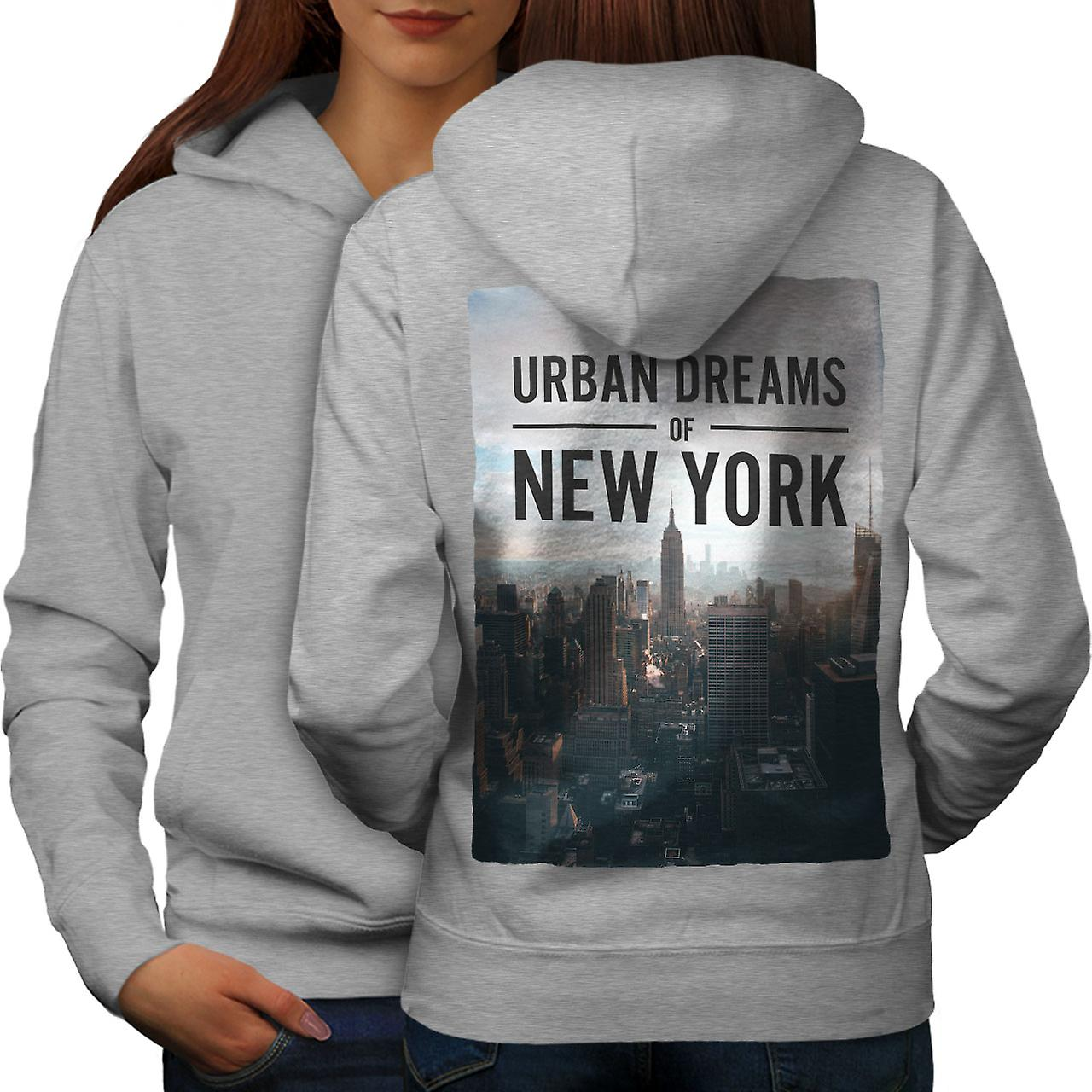 Photo urbaine nouvelle femmes grisHoodie dos de rêve