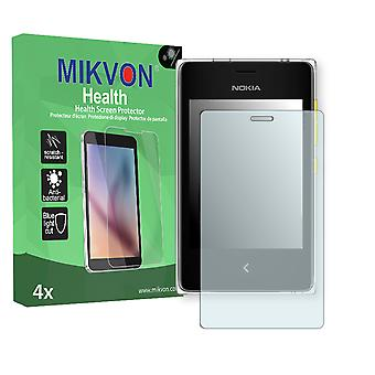 Nokia Asha 502 Dual SIM Screen Protector - Mikvon Health (Retail Package with accessories)