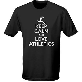 Zachowaj spokój i miłość w Lekkoatletyce dzieci Unisex T-Shirt 8 kolorów (XS-XL) przez swagwear