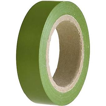 Electrical tape HellermannTyton HelaTape Flex 15 Green (L x W) 1
