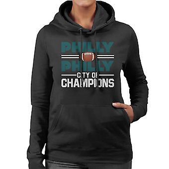 Philadelphia Eagles Philly City Of Champions Women's Hooded Sweatshirt