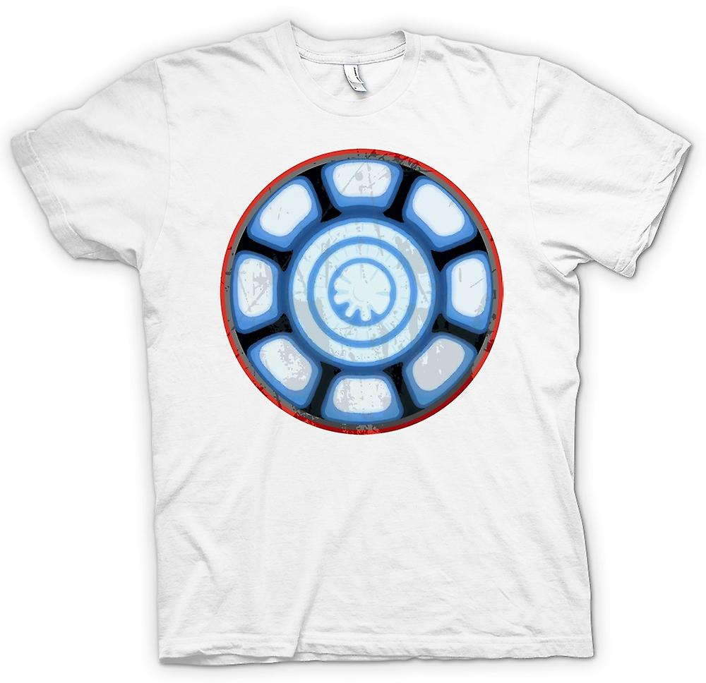 Herr T-shirt - Iron Man Arc Reactor hjärta - Cool