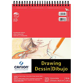 Canson Foundation Series Spiral Drawing Pad 11